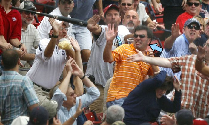 Fans Being Hit With A Foul Ball (24 pics)