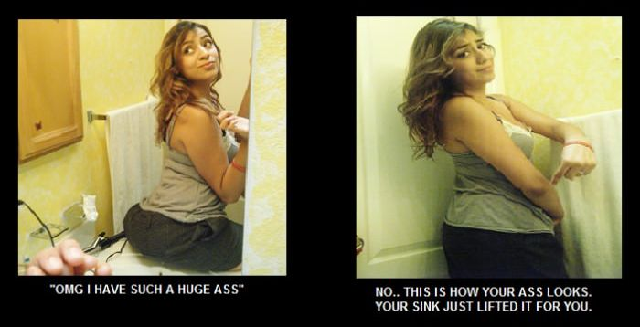 Girls on Facebook and Reality (4 pics)