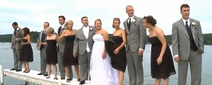 Wedding Party Falls into Lake (6 pics + video)