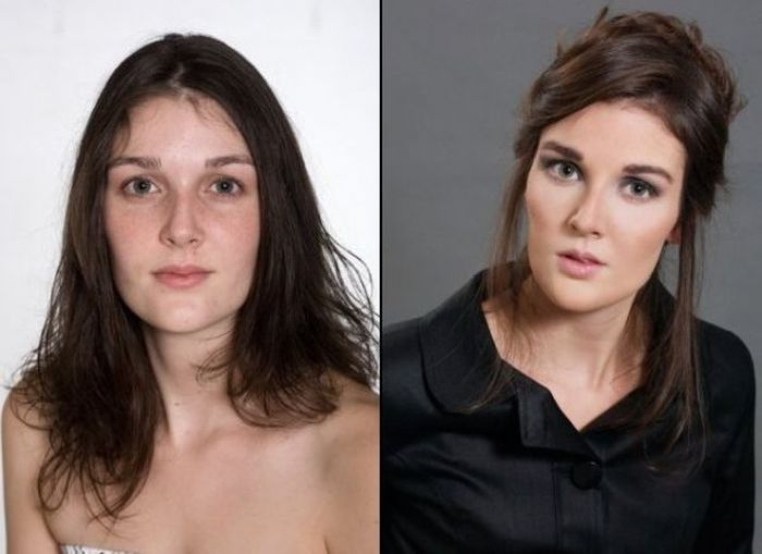 Girls With and Without Makeup (20 pics)