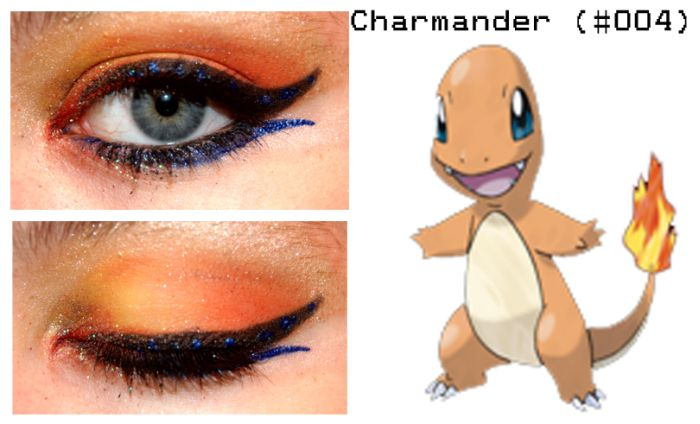 Pokemon Inspired Eye Make-Up (27 pics)