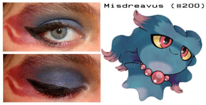 Pokemon Inspired Eye Make-Up (27 pics)