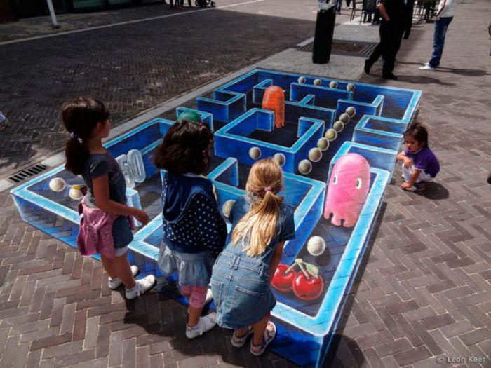 Three-Dimensional Street Paintings (42 pics)