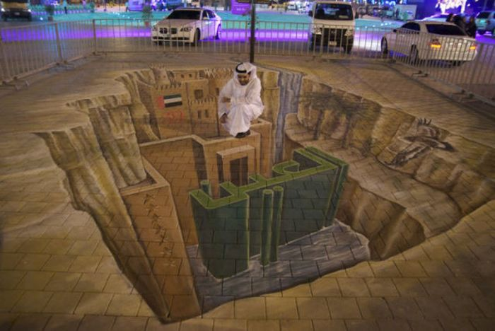 Three-Dimensional Street Paintings (42 pics)