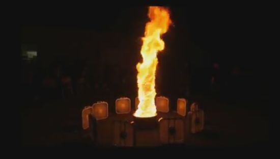 Incredible Hand Made Fire Tornado