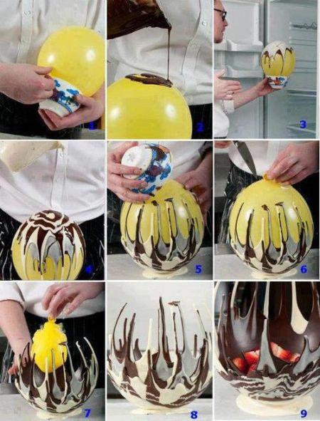 DIY Chocolate Bowl Fail (3 pics)