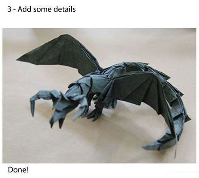 How to Fold an Origami Dragon in Three Simple Steps (3 pics)
