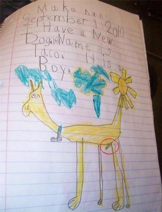 Bizarre Children Drawings (20 pics)