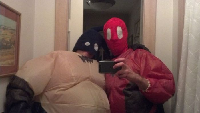 Spiderman and Batman (4 pics)