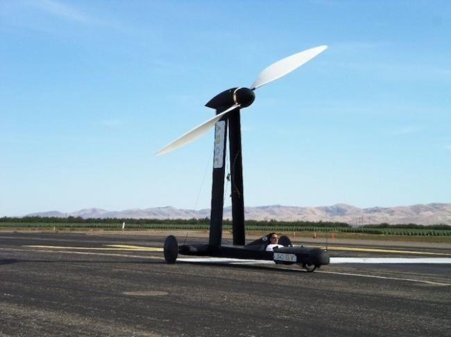 Wind-Powered Vehicle (3 pics)