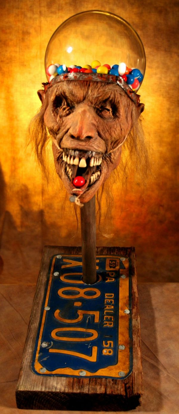 Zombie Head Gumball Machine (5 pics)