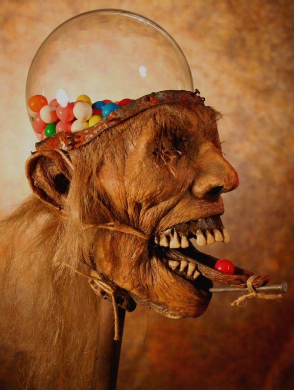 Zombie Head Gumball Machine (5 pics)