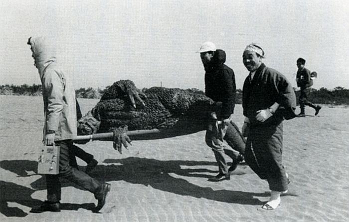 On the Set of Godzilla in 1954 (11 pics)