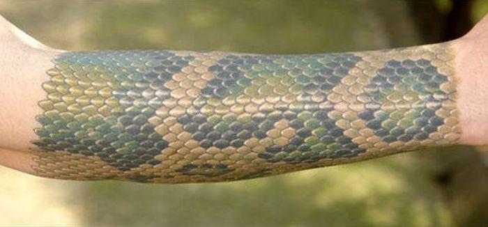 Snake Skin Tattoo (3 pics)