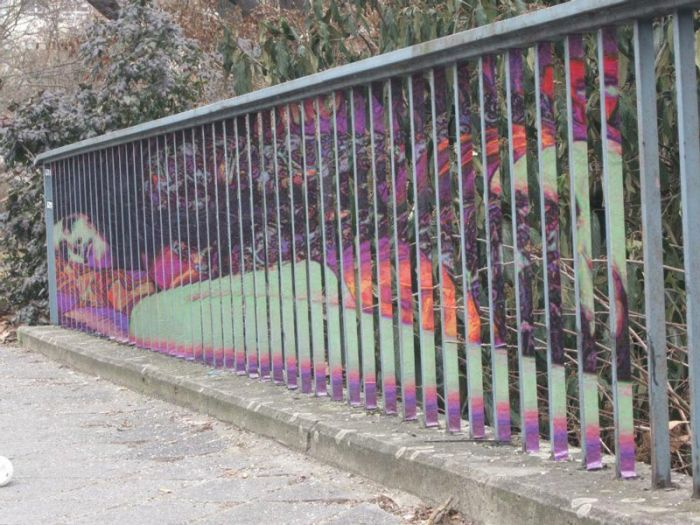 Street Art on Railings by Zebrating (20 pics)