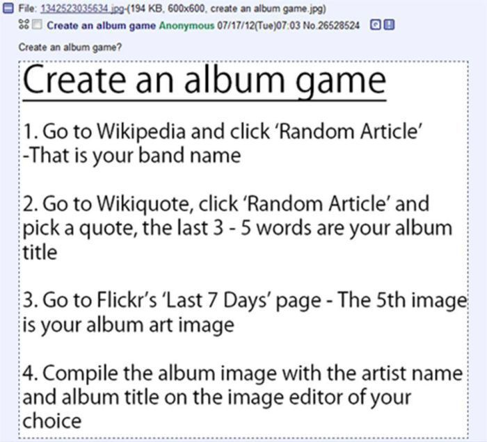 Create an Album Game (7 pics)