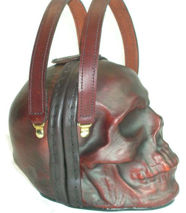 Leather Skull Purse (5 pics)