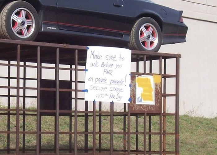 Revenge for Illegal Parking (4 pics)