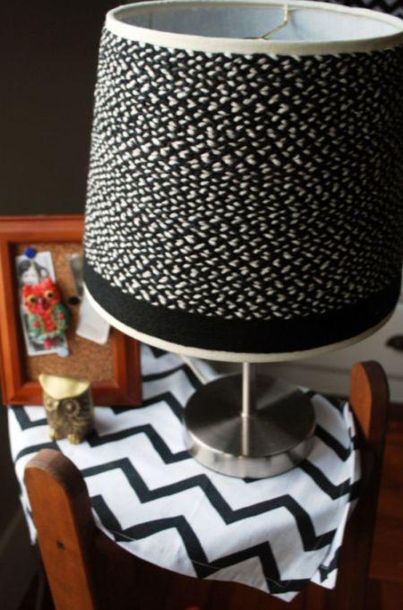 DIY Braided lampshade (8 pics)