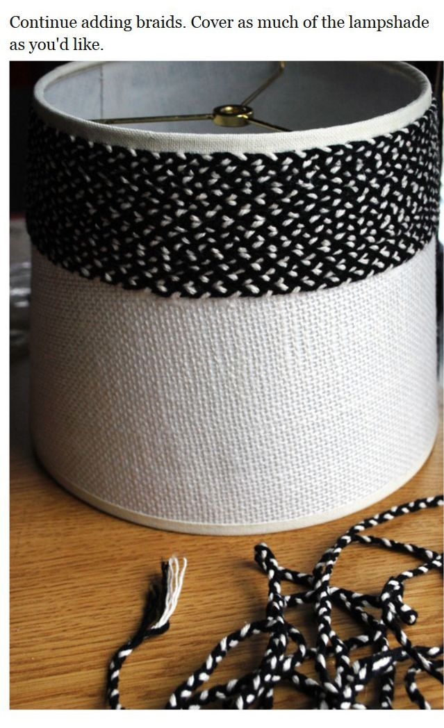 DIY Braided lampshade (8 pics)