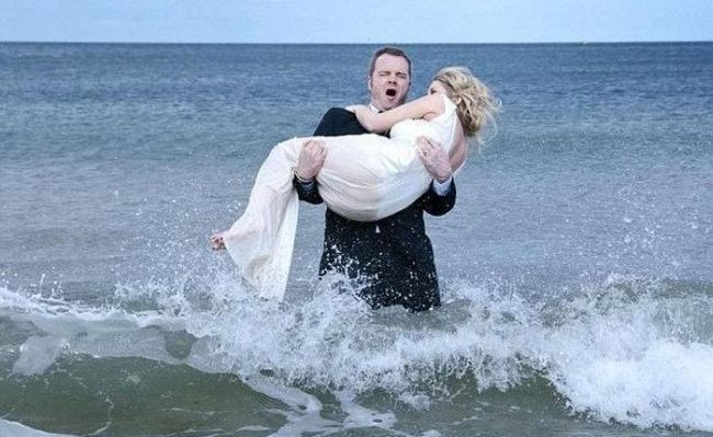Wedding Photo Shooting Fail (8 pics + video)