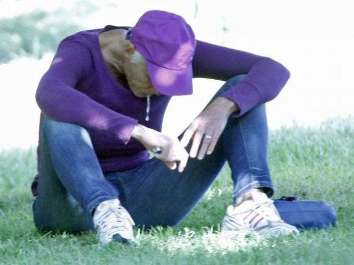 Brigitte Nielsen Drunk in Public Park (14 pics)