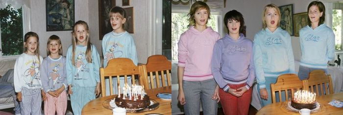 Four Sisters Have Recreated Old Photos (28 pics)