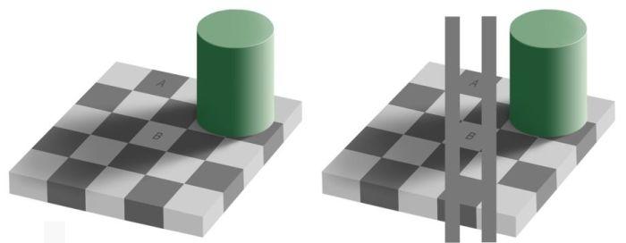 Checker Shadow Illusion (3 pics)