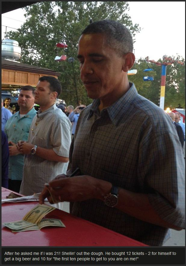 Obama Buying Beer at the Iowa State Fair (11 pics)