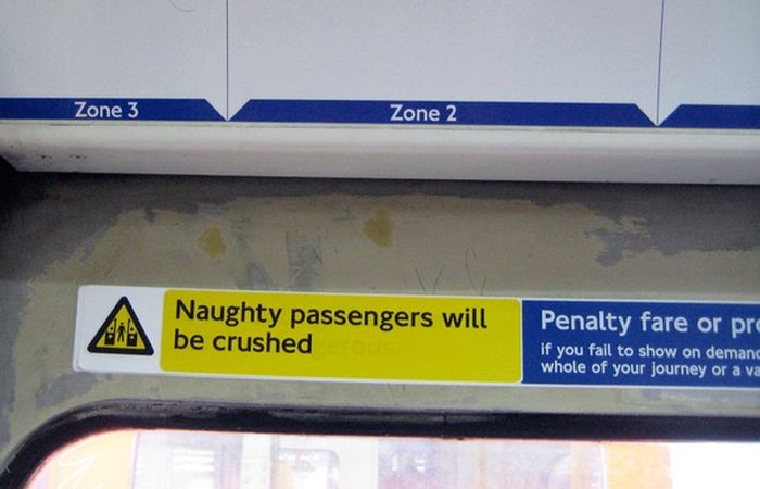 Guerilla Artists Doctoring  Signs on London Transport (19 pics)