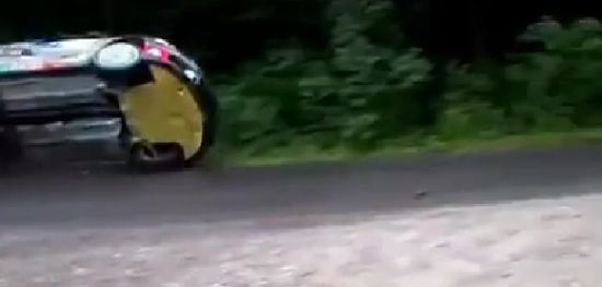 Unbelievable Rally Car Close Call