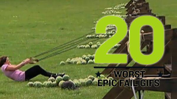 Epic Fail GIFs (20 gifs)