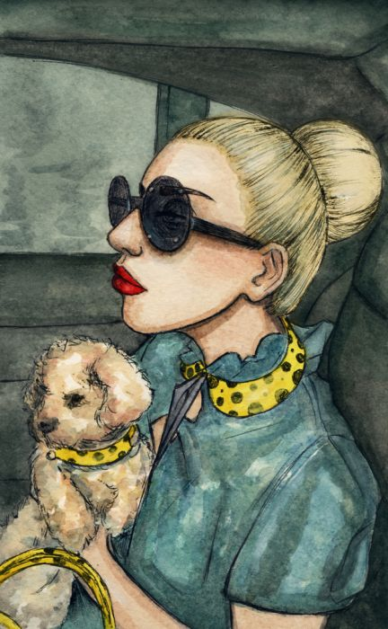 Lady Gaga and Her New Dog Fozzi (25 pics)