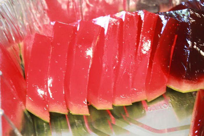 Watermelon Slice Jello Shots (15 pics)
