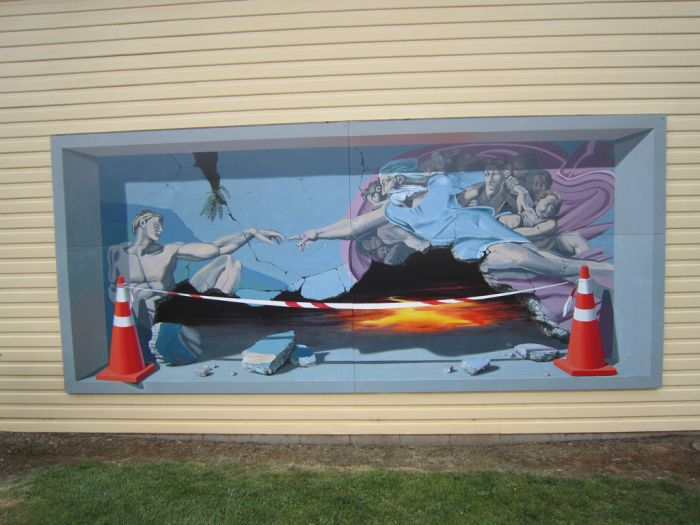 Wall Art in the Tasmanian City of Sheffield (22 pics)