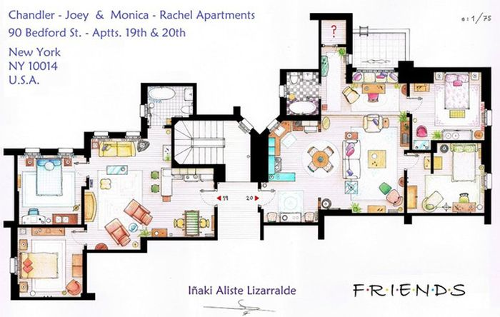 Floor Plans Of TV's Best Homes (15 pics)
