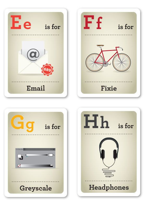 Baby Geek Flash Cards (7 pics)