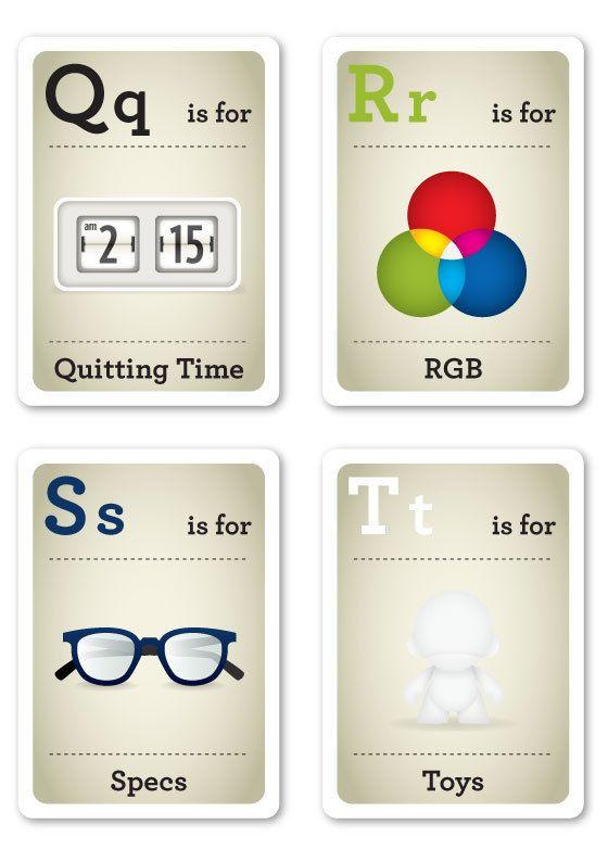 Baby Geek Flash Cards (7 pics)