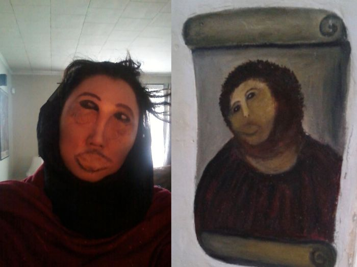 Ruined Jesus Fresco Make-Up Job (3 pics)