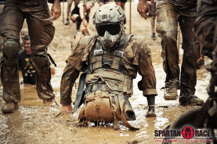 Legless Guy at Spartan Race  (7 pics)
