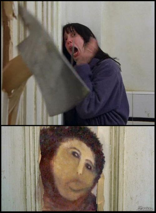 """Internet's Reaction to the Botched """"Ecce Homo"""" Painting (26 pics)"""