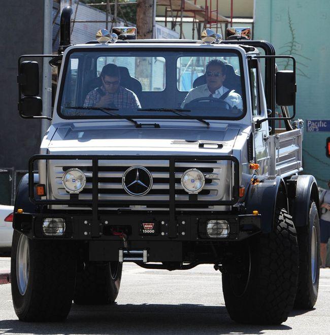 Arnold Schwarzenegger Riding a Monster Truck (4 pics)