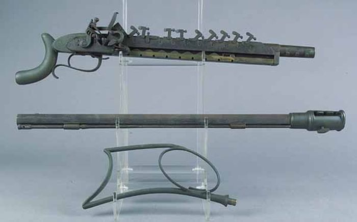 12-Shot Flintlock Jennings Repeating Rifle (15 pics)