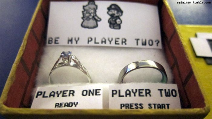Super Mario Marriage Proposal (4 pics)