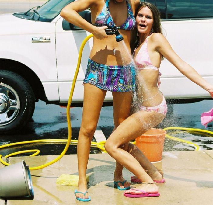 amature car wash girls