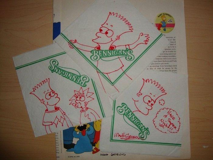 Early Bart Simpson Doodles (5 pics)