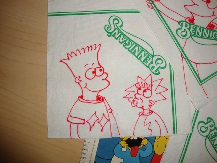Early Bart Simpson Doodles (5 pics)