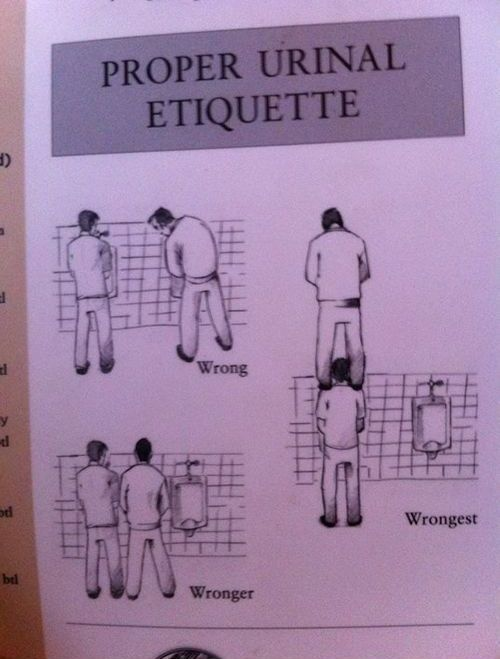 Proper Urinal Etiquette (4 pics)