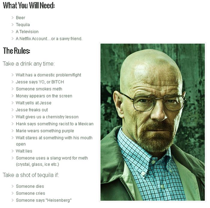 The Breaking Bad Drinking Game (1 pic)