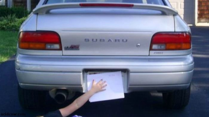 Hide Your License Plate Like A Boss (7 pics)